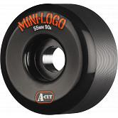 Mini Logo Skateboard Wheel A-cut 55mm 90A Black 4pk