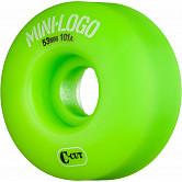 Mini Logo Skateboard Wheel C-cut 53mm 101A Green 4pk