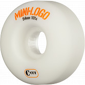 Mini Logo Skateboard Wheel C-cut 54mm 101A White 4pk