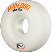 Mini Logo Skateboard Wheel C-cut 50mm 101A White 4pk