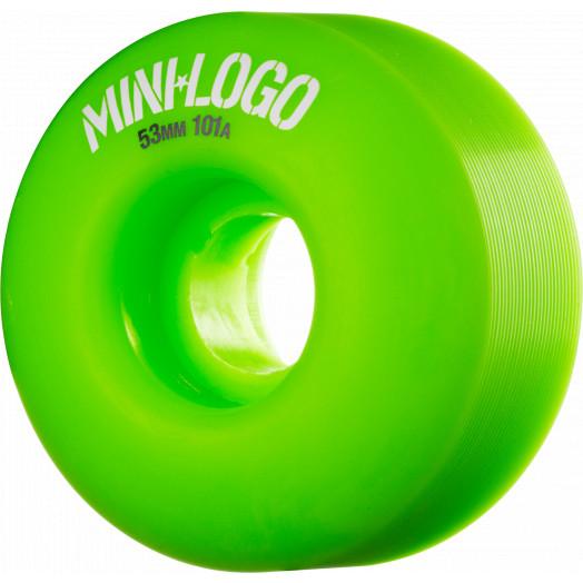 Mini Logo Wheel C-cut 53mm 101A Green 4pk