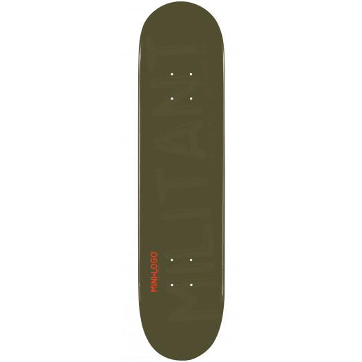 Mini Logo Militant Skateboard Deck 126 Green - 7.625 x 31.625