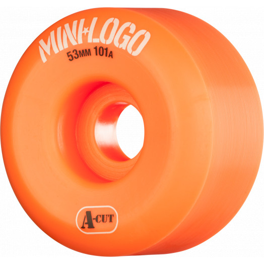Mini Logo Skateboard Wheel A-cut 53mm 101A Orange 4pk