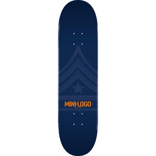 Mini Logo Quartermaster Skateboard Deck 126 Navy - 7.625 x 31.625