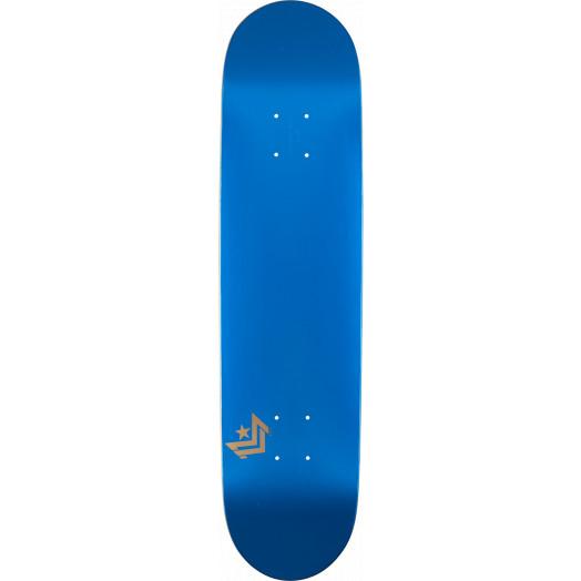 Mini Logo Chevron Skateboard Deck 112 Metallic Blue - 7.75 x 31.75