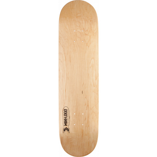 Mini Logo Small Bomb Skateboard Deck 124 Natural - 7.5 x 31.375