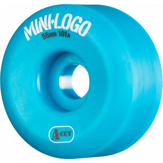 Mini Logo Skateboard Wheel A-cut 55mm 101A Blue 4pk