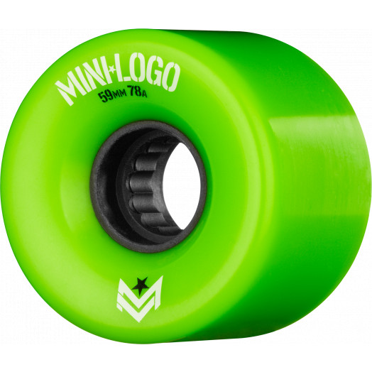 Mini Logo A.W.O.L. A-cut Green 59mm 78A 4pk