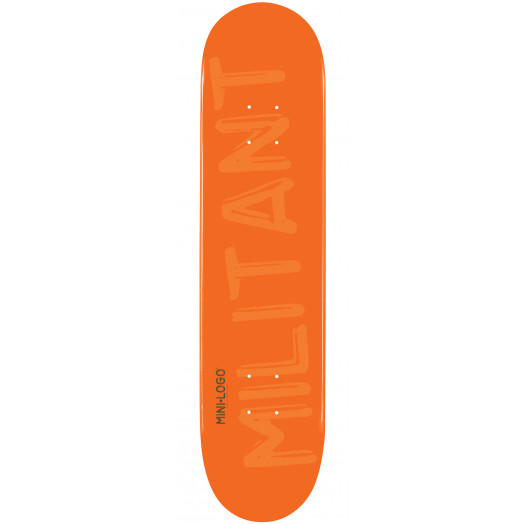 Mini Logo Militant Skateboard Deck 188 Orange - 7.88 x 31.67