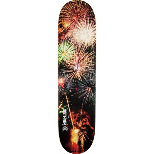 Mini Logo Small Bomb Skateboard Deck 248 Fireworks - 8.25 x 31.95