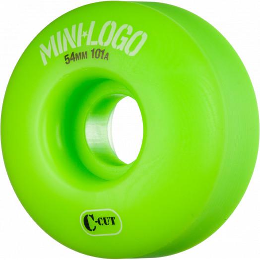 Mini Logo Skateboard Wheel C-cut 54mm 101A Green 4pk