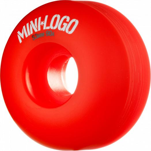 Mini Logo Wheel Hybrid C-cut 53mm 90A Red 4pk