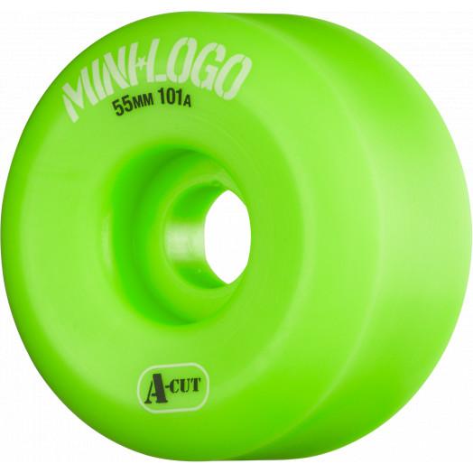 Mini Logo Skateboard Wheel A-cut 55mm 101A Green 4pk
