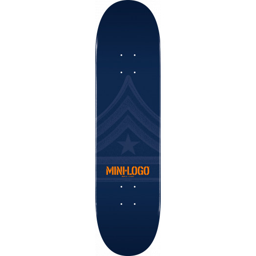 Mini Logo Quartermaster Skateboard Deck 191 Navy - 7.5 x 28.65
